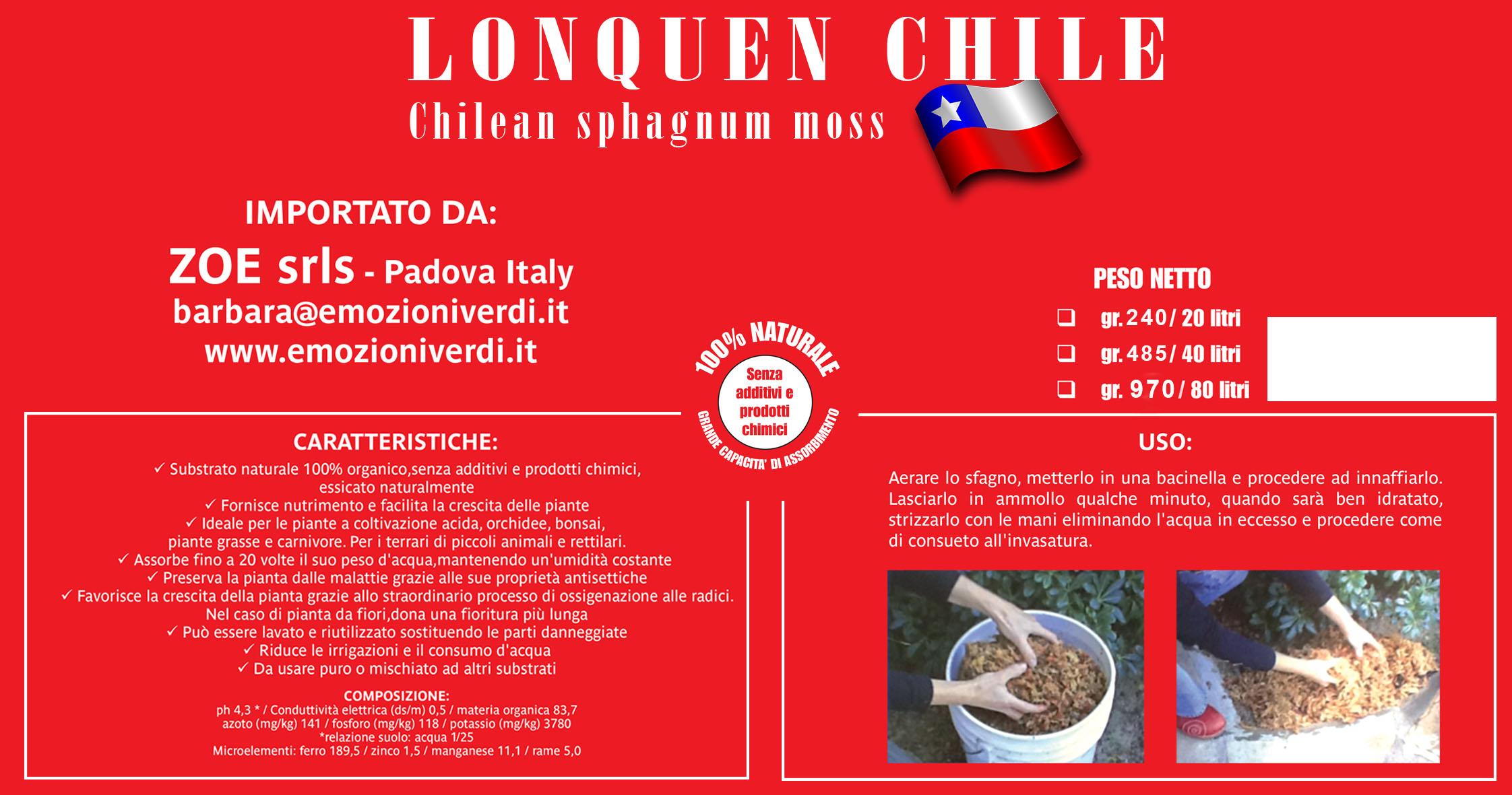 lonquen chile - chilean sphagnum moss